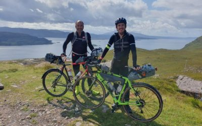 Pair cycle the North Coast 500 to fundraise for PCNH
