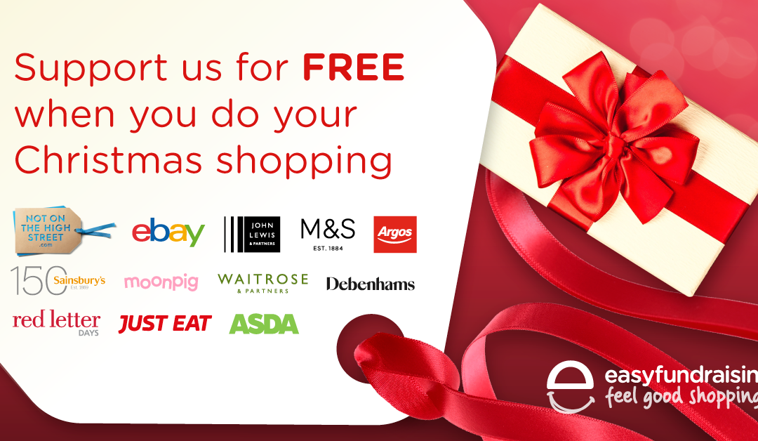 Support us for free whilst doing your Christmas shopping!